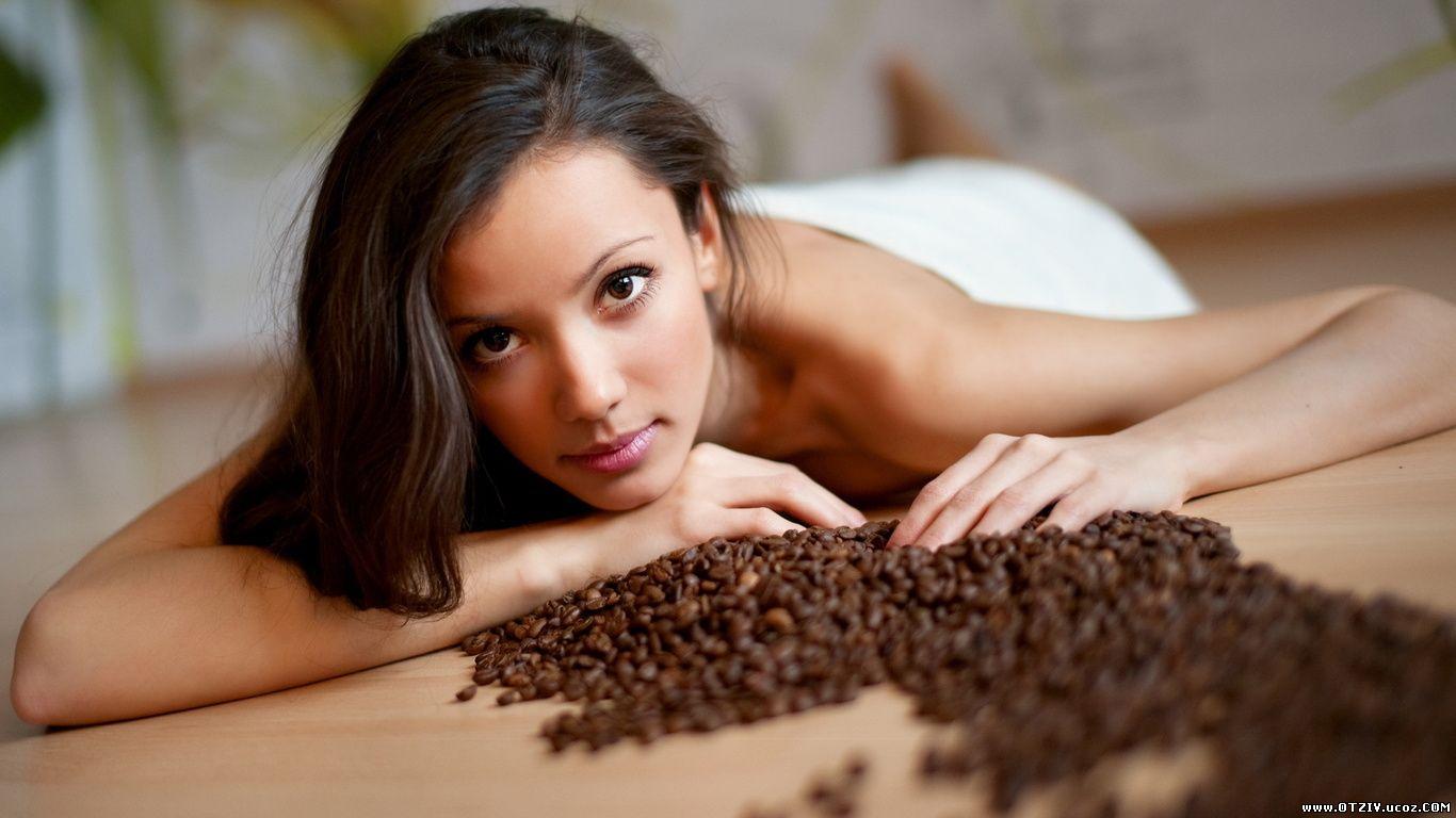 Девушка, женщина, кофе, эро, на полу